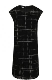 Мини-платье с круглым вырезом и карманами Escada Sport
