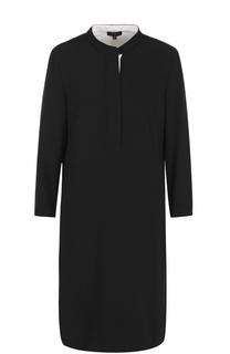 Платье-рубашка с воротником-стойкой Escada