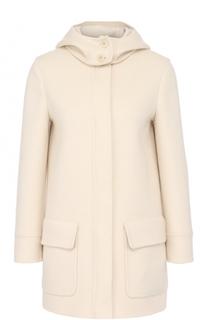 Кашемировое пальто с укороченным рукавом и капюшоном Loro Piana