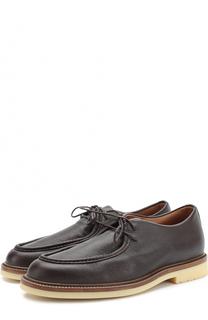 Кожаные ботинки на шнуровке Loro Piana