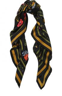 Шелковый шарф с цветочным принтом Polo Ralph Lauren