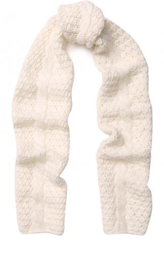 Кашемировый шарф фактурной вязки с отделкой из бусин Loro Piana