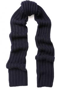Шарф фактурной вязки из смеси шерсти и кашемира с вискозой Baldessarini