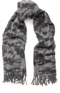 Шерстяной шарф с камуфляжным принтом Canada Goose