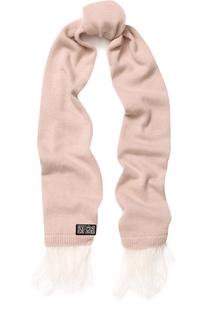 Вязаный шарф с пером страуса No. 21