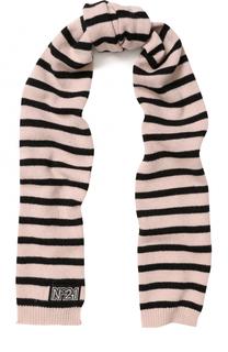 Вязаный шарф в полоску No. 21