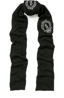 Вязаный шарф с логотипом бренда Billionaire
