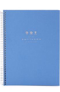 Кожаная папка на молнии с блоком для органайзера Smythson