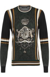 Джемпер тонкой вязки из смеси кашемира и шелка с шерстью Dolce & Gabbana