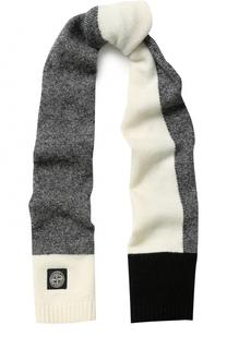 Вязаный шарф с контрастной отделкой Stone Island