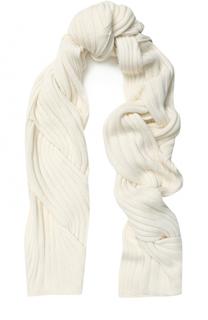 Кашемировый шарф фактурной вязки Escada