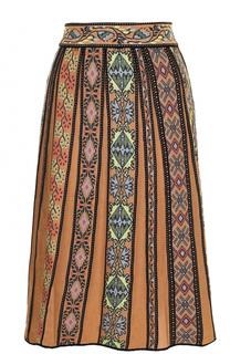 Шерстяная юбка-миди в складку M Missoni