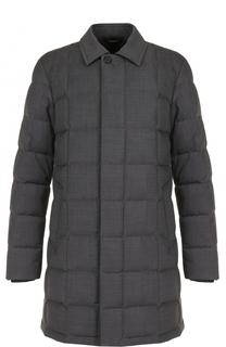 Пуховое пальто на молнии с отложным воротником Z Zegna