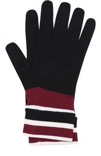 Шерстяные перчатки с контрастными манжетами Dolce & Gabbana