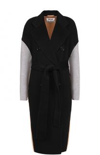 Двубортное пальто из смеси шерсти и кашемира с поясом Acne Studios