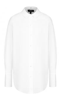 Хлопковая блуза свободного кроя Theory