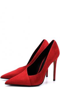 Замшевые туфли на шпильке Balmain