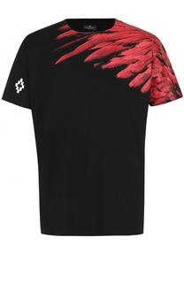Хлопковая футболка с принтом Marcelo Burlon