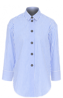 Хлопковая блуза в полоску с укороченным рукавом Walk of Shame