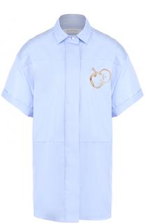 Хлопковая блуза свободного кроя с укороченным рукавом Walk of Shame