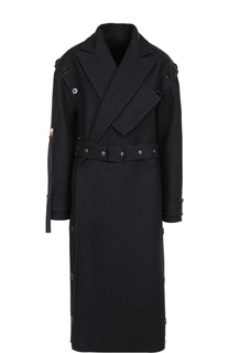 Удлиненное шерстяное пальто с поясом Proenza Schouler