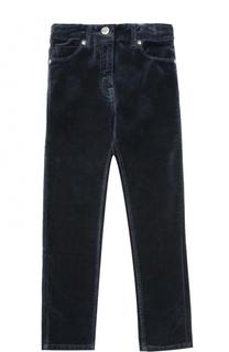 Велюровые брюки с бантом на поясе Monnalisa