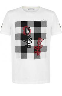 Хлопковая футболка с контрастной отделкой J.W. Anderson