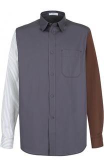 Хлопковая рубашка свободного кроя J.W. Anderson