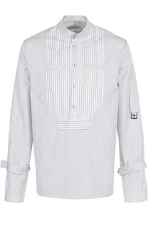 Хлопковая рубашка в полоску с отделкой J.W. Anderson