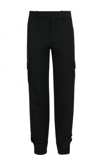 Шерстяные брюки прямого кроя с отделкой J.W. Anderson