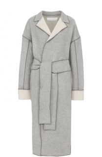 Пальто из смеси шерсти и кашемира с поясом Victoria by Victoria Beckham