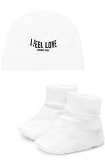 Хлопковый комплект из пинеток и шапки Givenchy