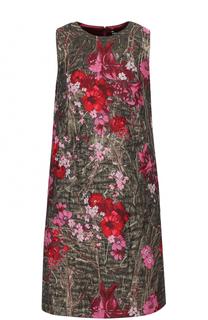 Жаккардовое мини-платье без рукавов Dolce & Gabbana