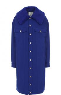 Джинсовое пальто свободного кроя с отложным воротником 3.1 Phillip Lim