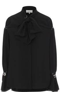 Шелковая блуза с воротником аскот 3.1 Phillip Lim