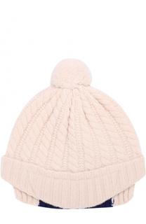 Шерстяная шапка фактурной вязки с помпоном Gucci