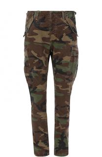 Хлопковые брюки карго с камуфляжным принтом Polo Ralph Lauren
