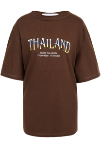 Хлопковая футболка свободного кроя с надписью Walk of Shame