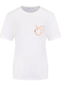 Хлопковая футболка с круглым вырезом и принтом Walk of Shame