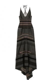 Приталенное платье-макси с подолом Roland Mouret