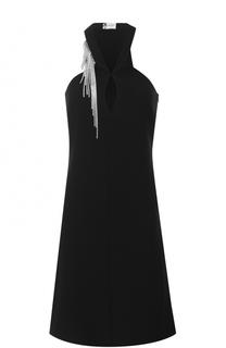 Приталенное платье-миди без рукавов Lanvin