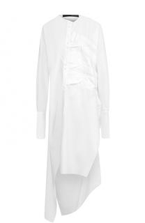 Хлопковое платье-рубака асимметричного кроя Isabel Benenato
