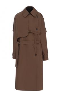Пальто с отложным воротником и поясом Isabel Benenato