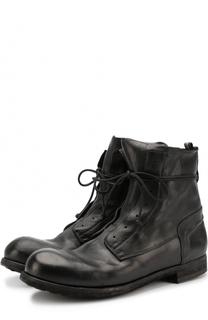 Высокие кожаные ботинки без шнуровки на молнии Officine Creative