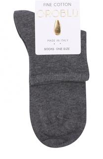 Хлопковые однотонные носки Oroblu