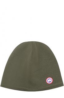 Шерстяная шапка с аппликацией Canada Goose