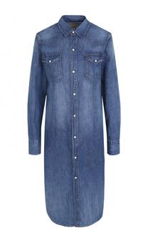 Джинсовое платье-рубашка с потертостями Polo Ralph Lauren