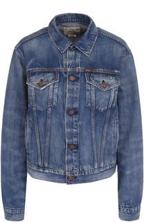 Джинсовая куртка с потертостями Polo Ralph Lauren