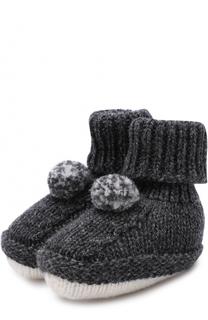 Носки из шерсти и кашемира с помпоном Baby T