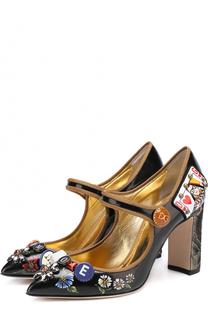Лаковые туфли Vally с декоративной отделкой Dolce & Gabbana